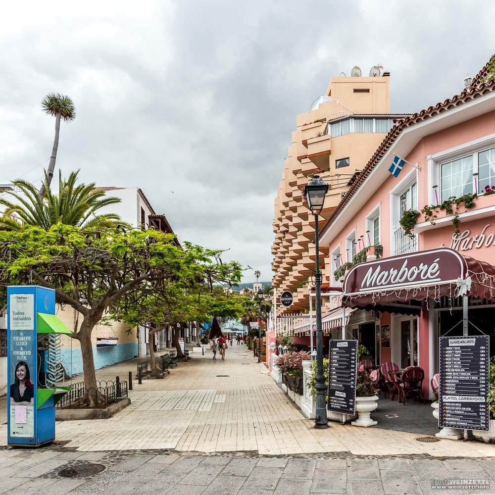 Das Marboré steht an der Ecke zur Calle Mazaroco, der Blick auf diesem Bild geht in diese Gasse.