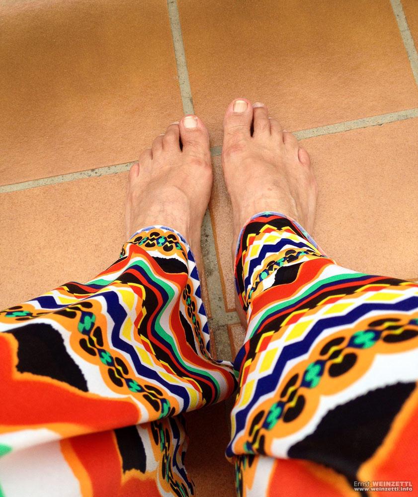 Die Füße bekommen Auslauf.