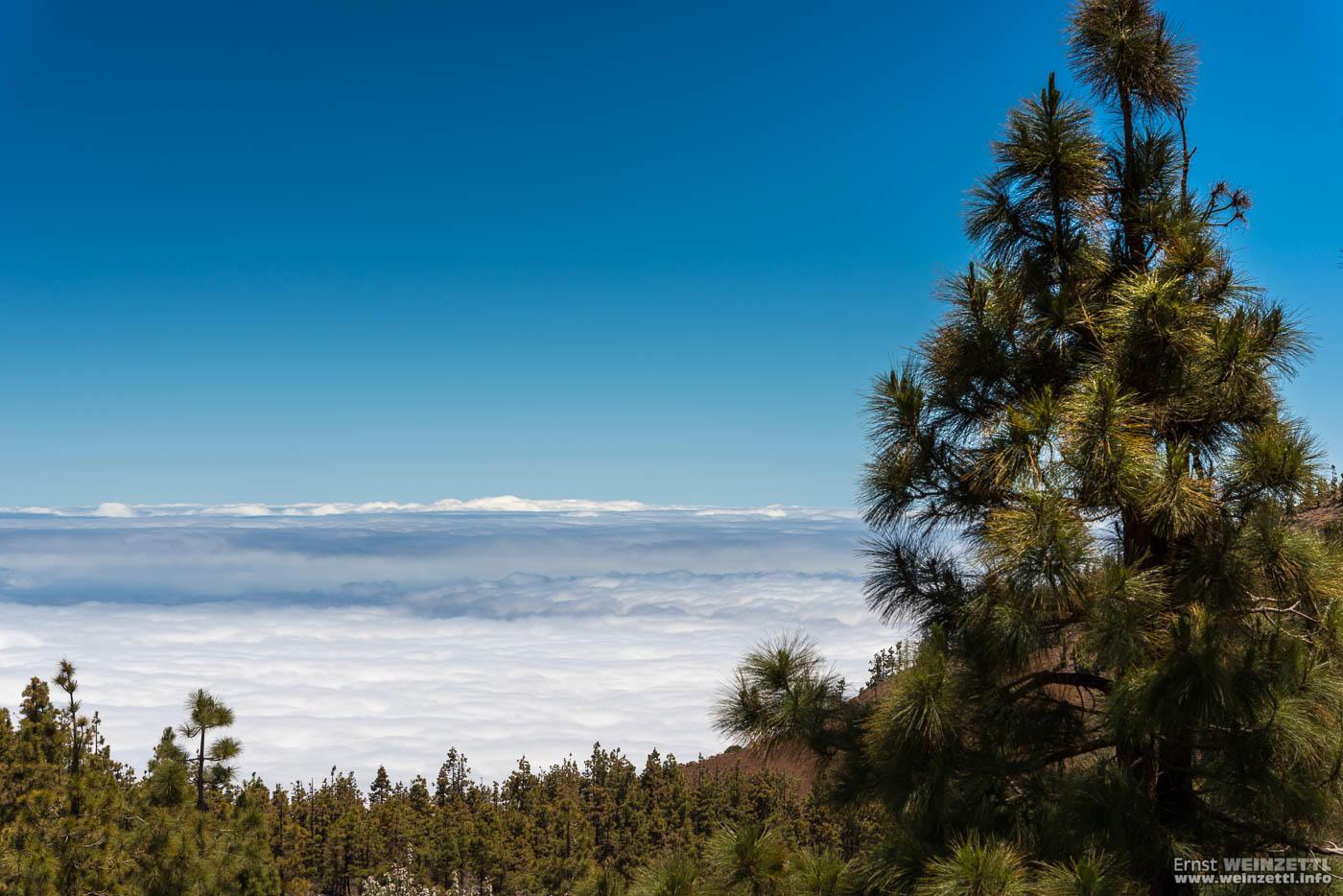 Wie ein weiter See liegen die Wolken unter uns.