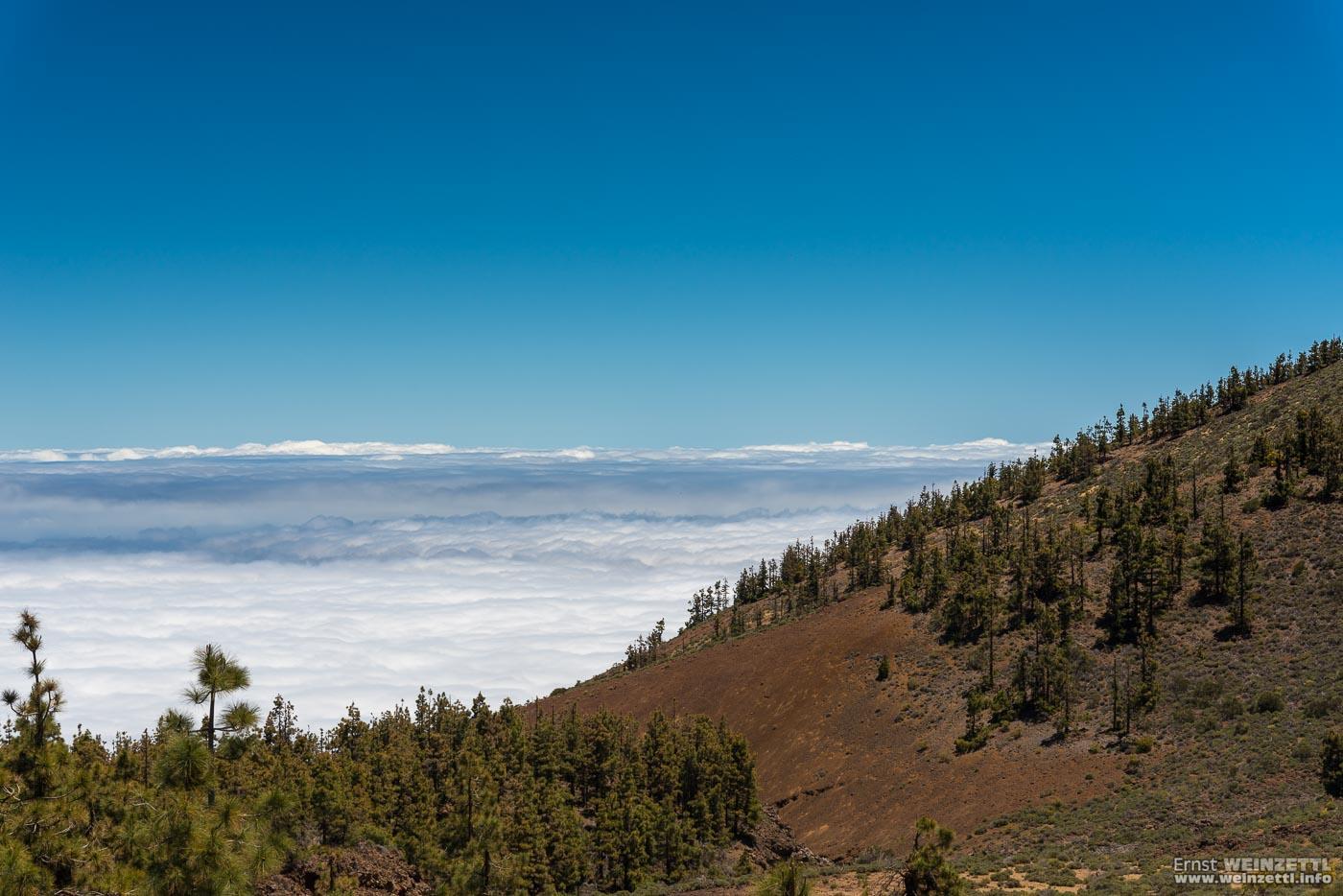 Ein letzter Blick über die Wolken.