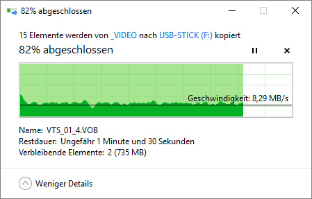 MeZmory USB 3.0 Stick mit FAT32 an USB 2.0