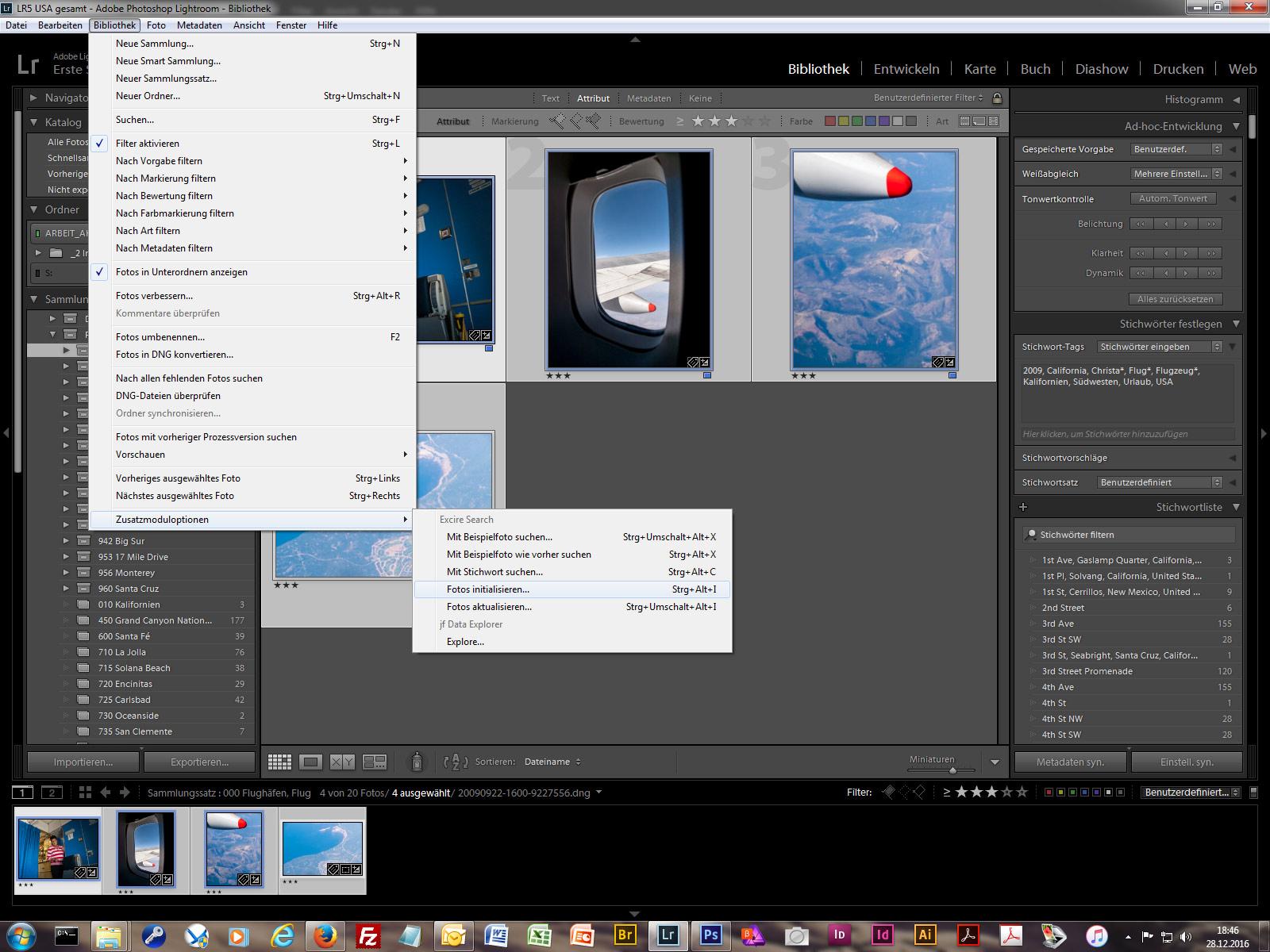 So werden die Bilder eines bestehenden Katalogs initialisiert.