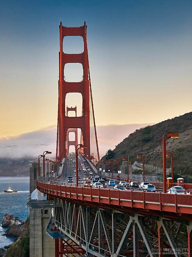 Golden Gate Bridge von der Nordseite her gesehen