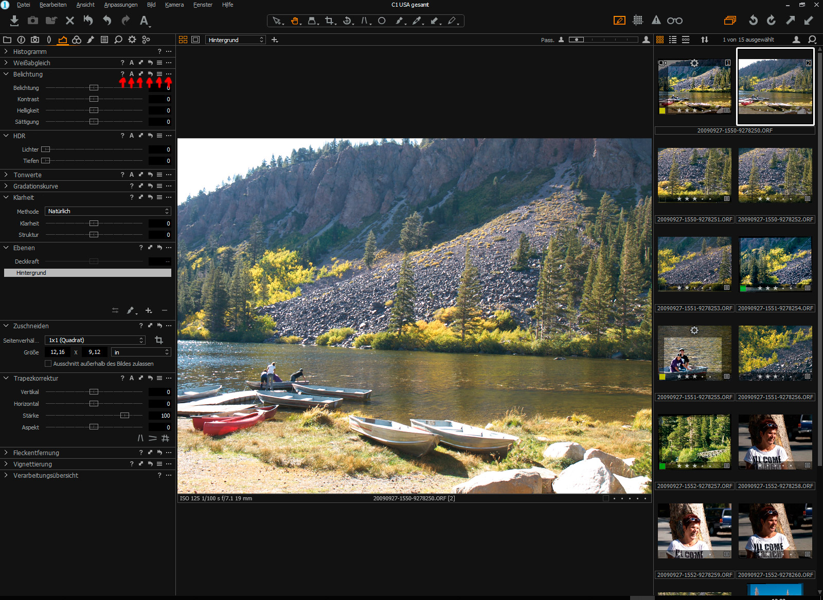 Capture One Anpassungen